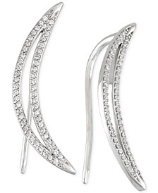 Wrapped in Love™ Diamond Ear Crawlers (1/5 ct. t.w.) in 14k White Gold, Created for Macy's