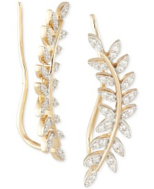 Wrapped in Love™ Diamond Ear Crawlers (1/5 ct. t.w.) in 14k Gold, Created for Macy's