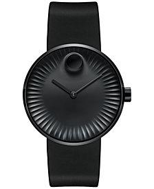 Movado Men's Swiss Edge Black Rubber Strap Watch 40mm 3680005
