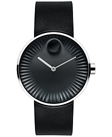 Movado Men's Swiss Edge Black Rubber Strap Watch 3680002
