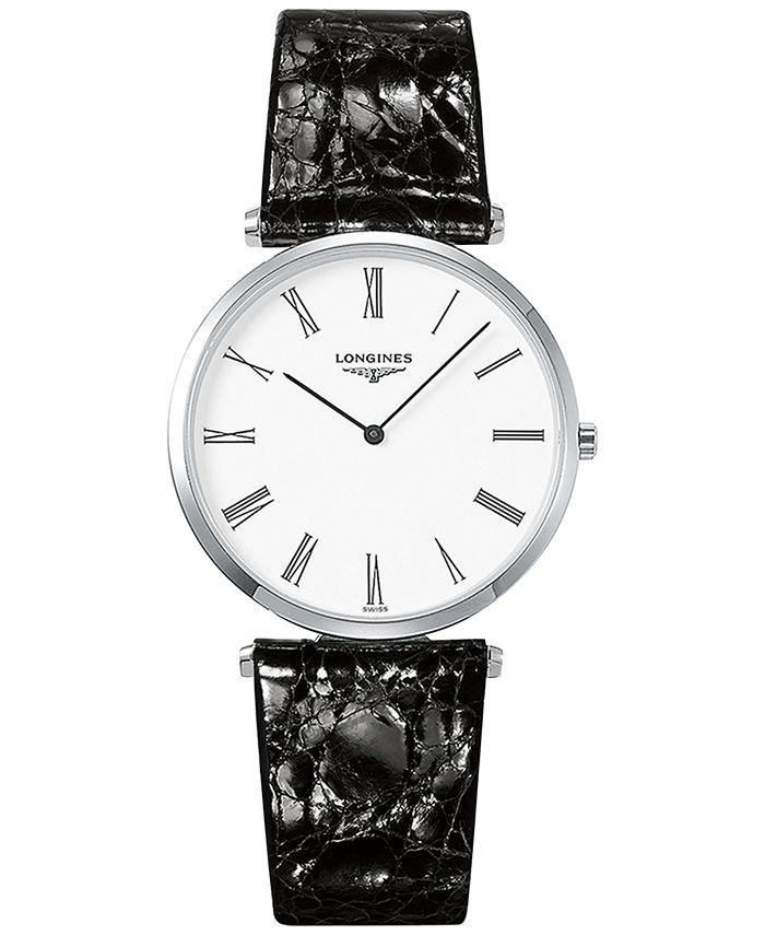Longines - Men's Swiss La Grande Classique De  Black Leather Strap Watch 36mm L47554112