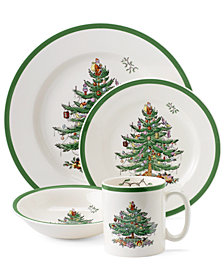 Spode Christmas Tree 4 Piece Place Setting