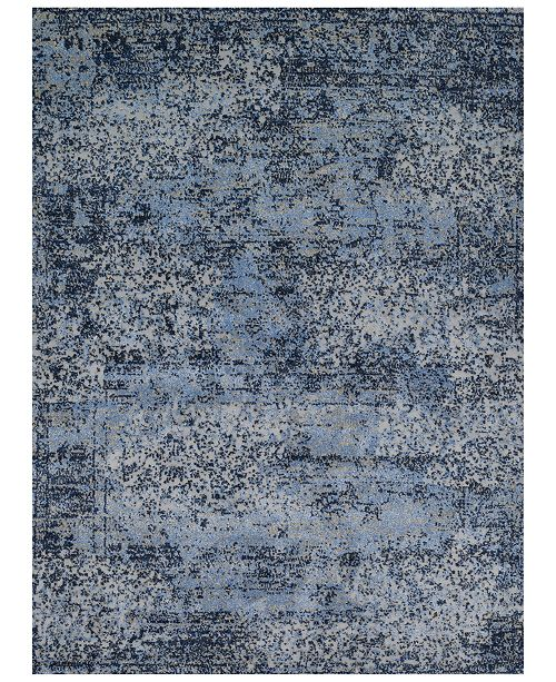 Fusion Light Blue Grey Area Rug Collection