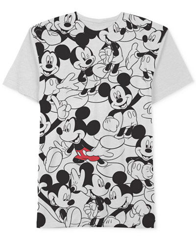 Jem Men's Repeating Mickey Mouse Disney T-Shirt - T-Shirts - Men ...