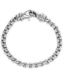 Men's Linked Bracelet in Stainless Steel, Created for Macy's