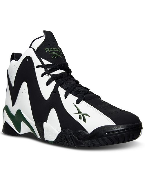 Reebok Men s Kamikaze II Mid Basketball Sneakers from Finish Line ... b869d5bf7