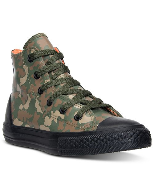 Converse Little Boys' Chuck Taylor All Star Hi Rubber Camo Casual Sneakers from Finish Line