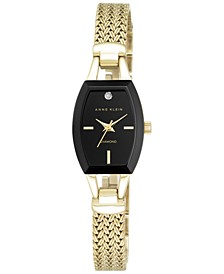 Women's Black Gold-Tone Mesh Bracelet Watch 19mm AK-2184BKGB