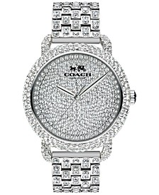 Womens Crystal Accent Stainless Steel Bracelet Watch 36MM 14502364