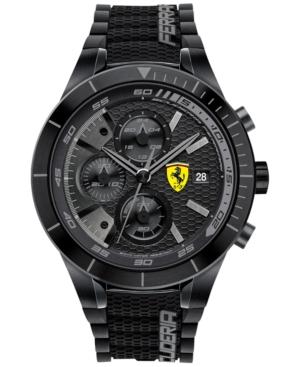 Scuderia Ferrari Men's Chronograph RedRev Evo Black Silicone Strap Watch 46mm 0830262