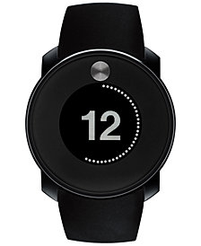 Movado Men's Digital Bold Touch Black Silicone Strap Watch 46mm 3600365