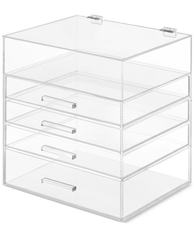 jewelry desk organization ideas whitmor 5 tier luxe acrylic makeup organizer jewelry organizer