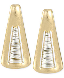 Robert Lee Morris Soho Two-Tone Triangle Drop Earrings