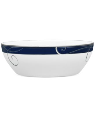 Platinum Wave Indigo Porcelain Vegetable/Salad Bowl