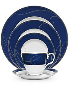 Noritake Dinnerware, Platinum Wave Indigo Collection