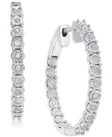 Macy S Diamond Hoop Earrin