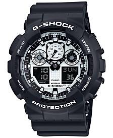 g shock watches macy s g shock men s analog digital black and white black bracelet watch 55x51mm ga100bw