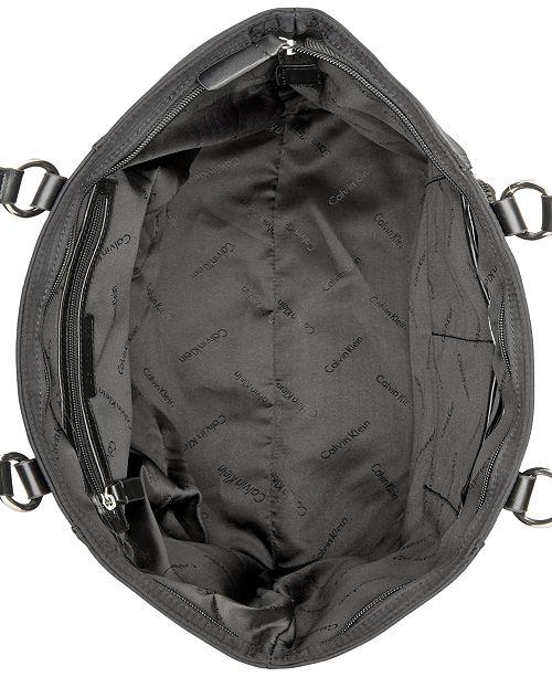 41c8af68be6 Calvin Klein Chunky Zipper Nylon Tote & Reviews - Handbags ...
