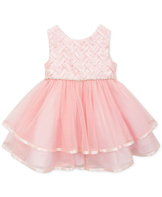 Rare Editions Baby Girls Peach Party Dress Kids & Baby