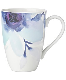 Lenox Indigo Watercolor Floral Porcelain Mug, Created for Macy's
