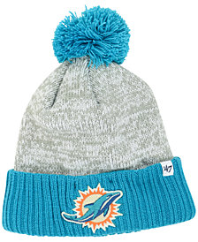 '47 Brand Miami Dolphins Coverage Knit Hat