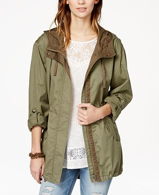 American Rag Juniors' Lightweight Hooded Parka, Created for Macy's ...