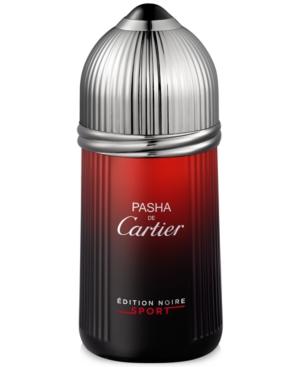 Cartier Mens Pasha de Cartier Edition Noire Sport Eau de Toilette Spray, 3.3 oz.