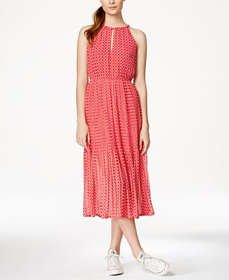Maison Jules Geometric-Print Midi Dress, Created for Macy's