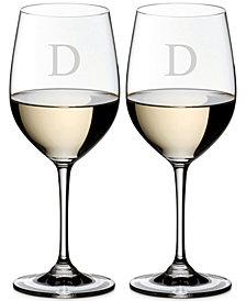 Riedel Vinum Monogram Collection 2-Pc. Block Letter Chardonnay/Chablis Wine Glasses