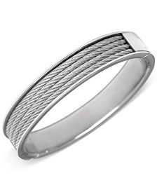 CHARRIOL Unisex Silver-Tone Cable Bangle Bracelet