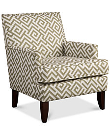 Kendall Fabric Accent Chair, Quick Ship
