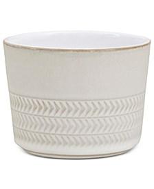 Natural Canvas Stoneware Ramekin/Sugar Bowl