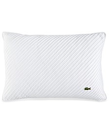"CLOSEOUT! Lacoste Home Pleated Stitched 12"" x 18"" Decorative Pillow, Created for Macy's"