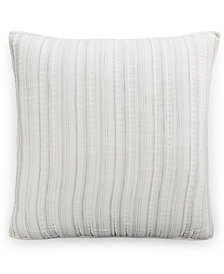 CLOSEOUT! Hotel Collection Linen Fog Quilted European Sham, Created for Macy's