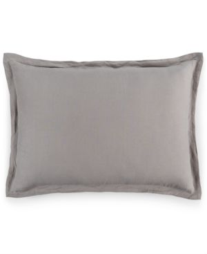 Closeout! Hotel Collection Linen Fog King Sham, Created for Macy's Bedding 2573629