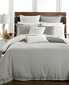 CLOSEOUT! Hotel Collection Linen Fog Bedding Collection, Created for Macy's