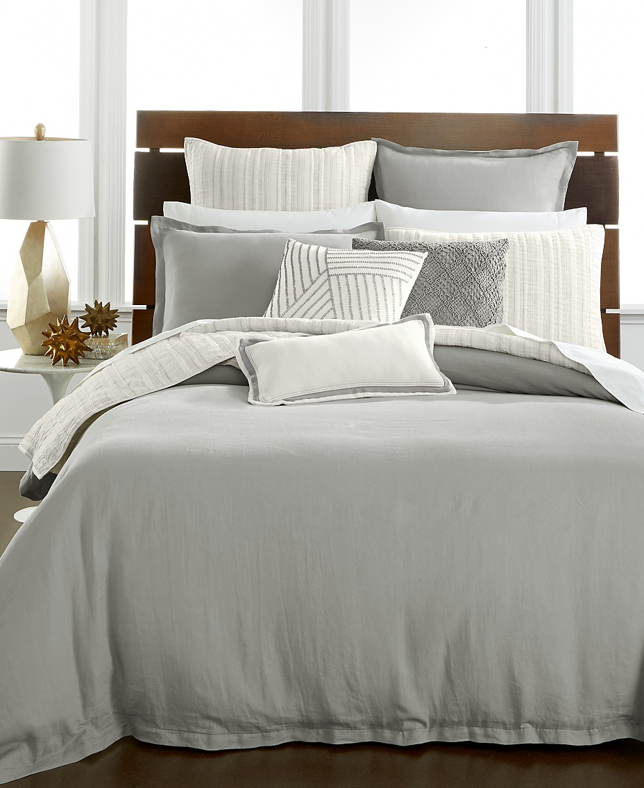 Hotel Collection CLOSEOUT! Linen Fog Bedding Collection