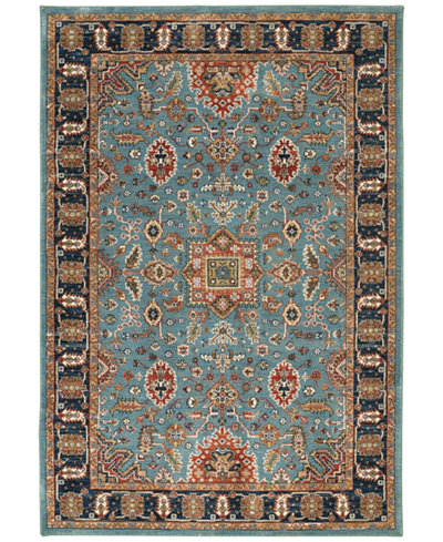 Karastan Spice Market Deir Aquamarine 8 X 11 Area Rug