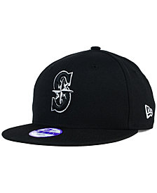 New Era Kids' Seattle Mariners Black White 9FIFTY Snapback Cap