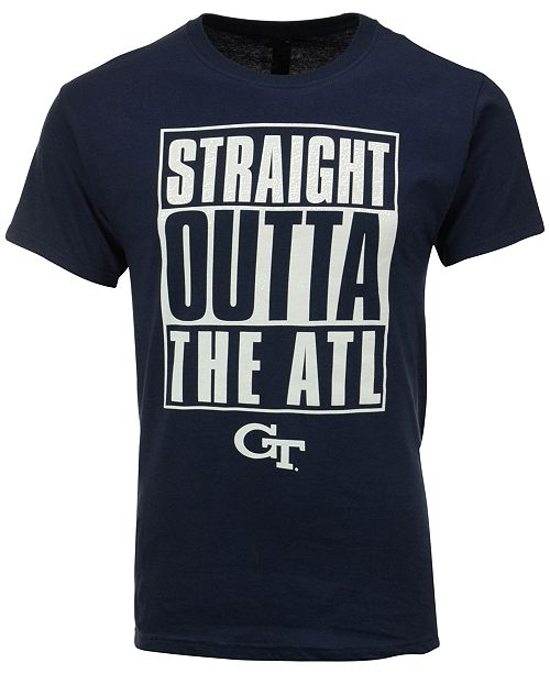 New World Graphics Men's Georgia Tech Yellow Jackets Straight Outta T-Shirt