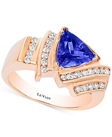 Le Vian Tanzanite (1-1/3 ct. t.w.) and Diamond (1/2 ct. t.w.) Ring in 14k Rose Gold, Created for Macy's