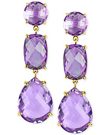 Amethyst Drop Earrings (27-5/8 ct. t.w.) in 14k Gold