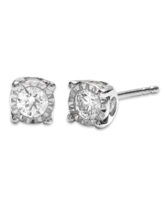 TruMiracle® Diamond Stud Earrings (3/8 ct. t.w.) in 14k White Gold or Yellow Gold