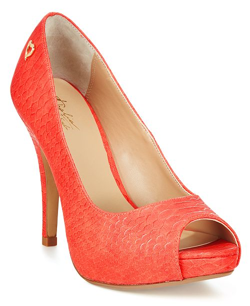 Thalia Sodi Cereza Peep-Toe Pumps, Created for Macy's
