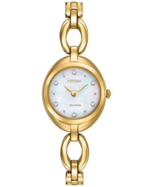 Citizen Women's Eco-Drive Gold-Tone Stainless Steel Bracelet