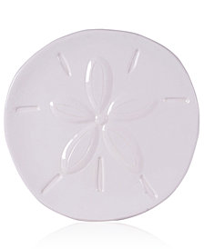Fitz and Floyd Cape Coral Collection White Sand Dollar Snack Plate