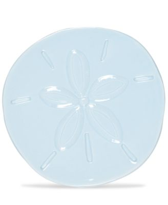 Cape Coral Collection Light Blue Sand Dollar Snack Plate
