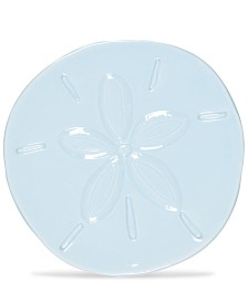 Fitz and Floyd Cape Coral Collection Light Blue Sand Dollar Snack Plate