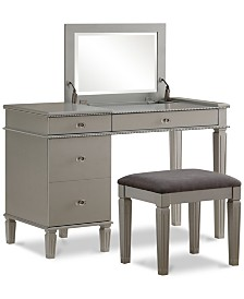 Alexandria Vanity Set with Bench and Mirror