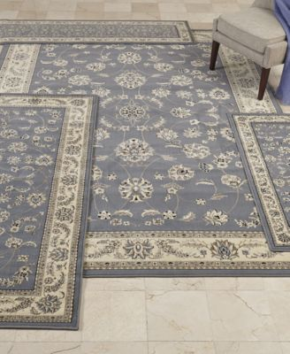KM Home Florence Collection 4 Pc. Set Isfahan Area Rugs